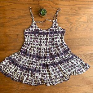 Brandy Melville OS Flowy Bare Back Mini Dress